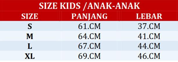 size chart anak