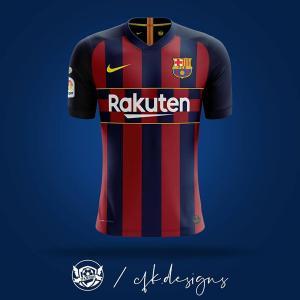 Barcelona Custom Jersey Bola